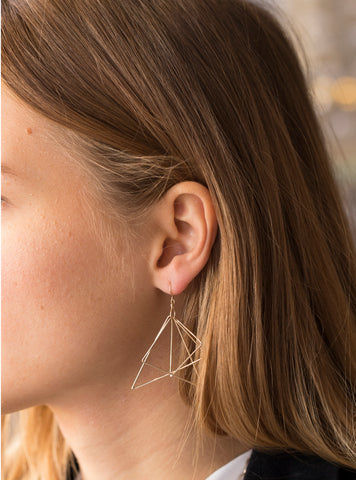 Lamie Gold Triangle Ring Earring