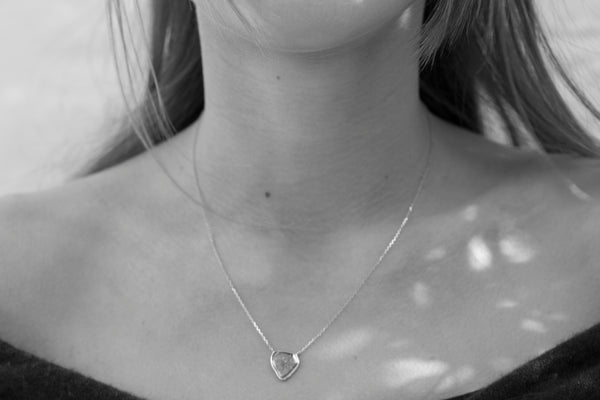 Grey Diamond Slice Necklace