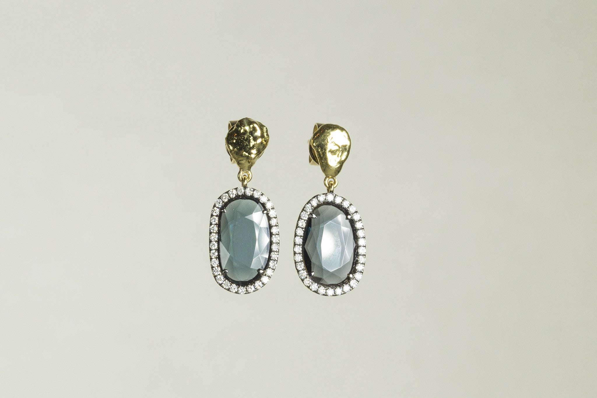 Transmutting Rare Blue Spinel Drop Earrings