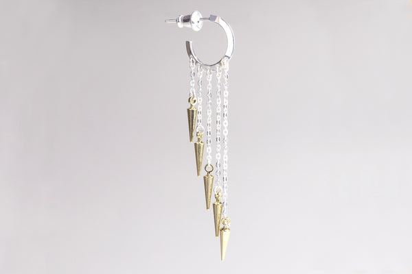 Chain Drop Spike Hoop Earrings - another popular design by Mehem, available here at felt in store and online