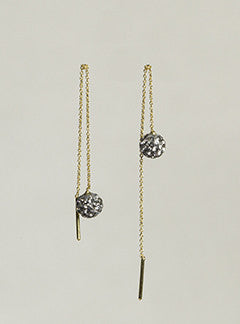 Jorge Morales Black Disco Ball Thread Through Drop Earrings