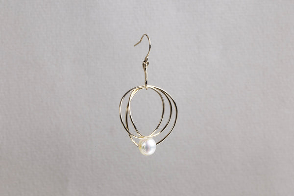 Ring Earring with Akoya Pearl