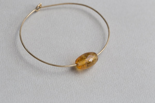 Mary MacGill Simple Stone Bracelet with heliodor