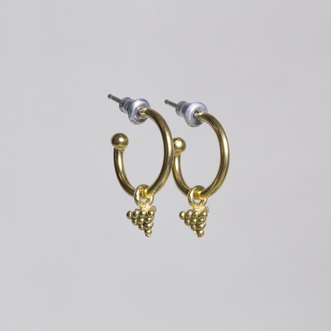 fantastically antique(ish) dotted pyramids charms on hoops