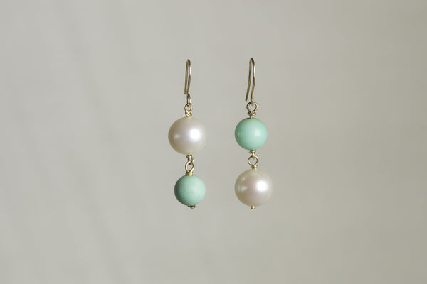 also from Molo are these 'up side down' chrysoprase and pearl drops also available on feltlondon.com