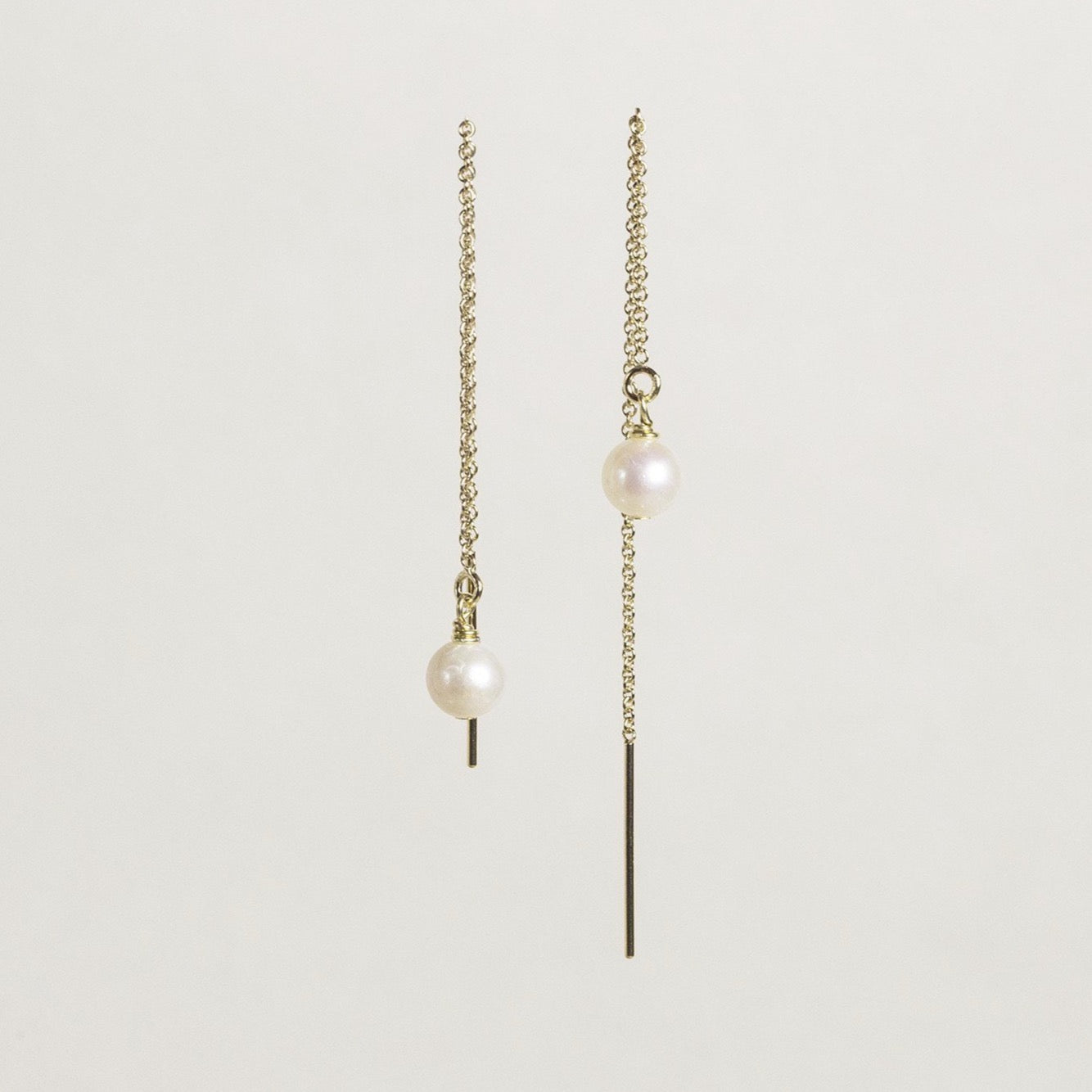 gorgeous and sexy freshwater pearl chain earrings