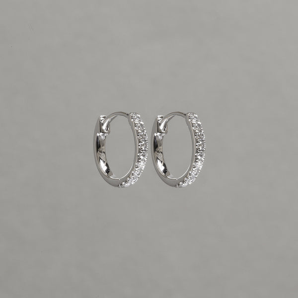10mm round diamond hoops in 18ct white gold