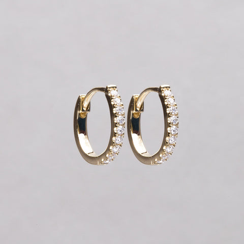 10mm round diamond hoops in 18ct yellow gold