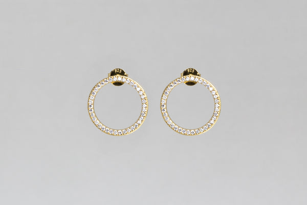 Open Circle Hoop Earrings