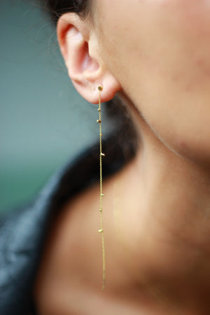Gold Dust Single Strand Earrings