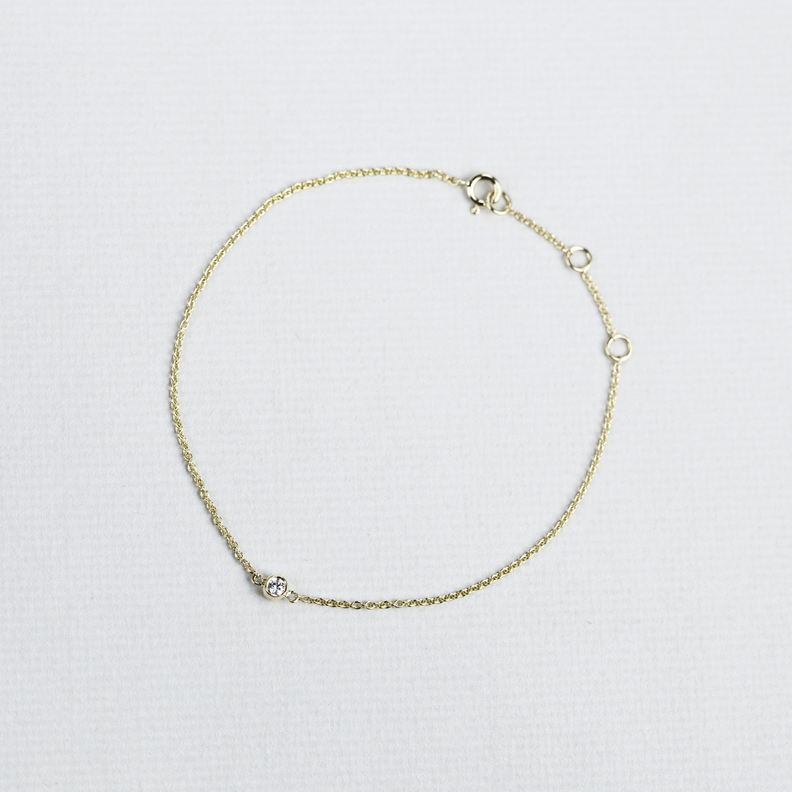 Gold and Diamond Bracelet (Small)