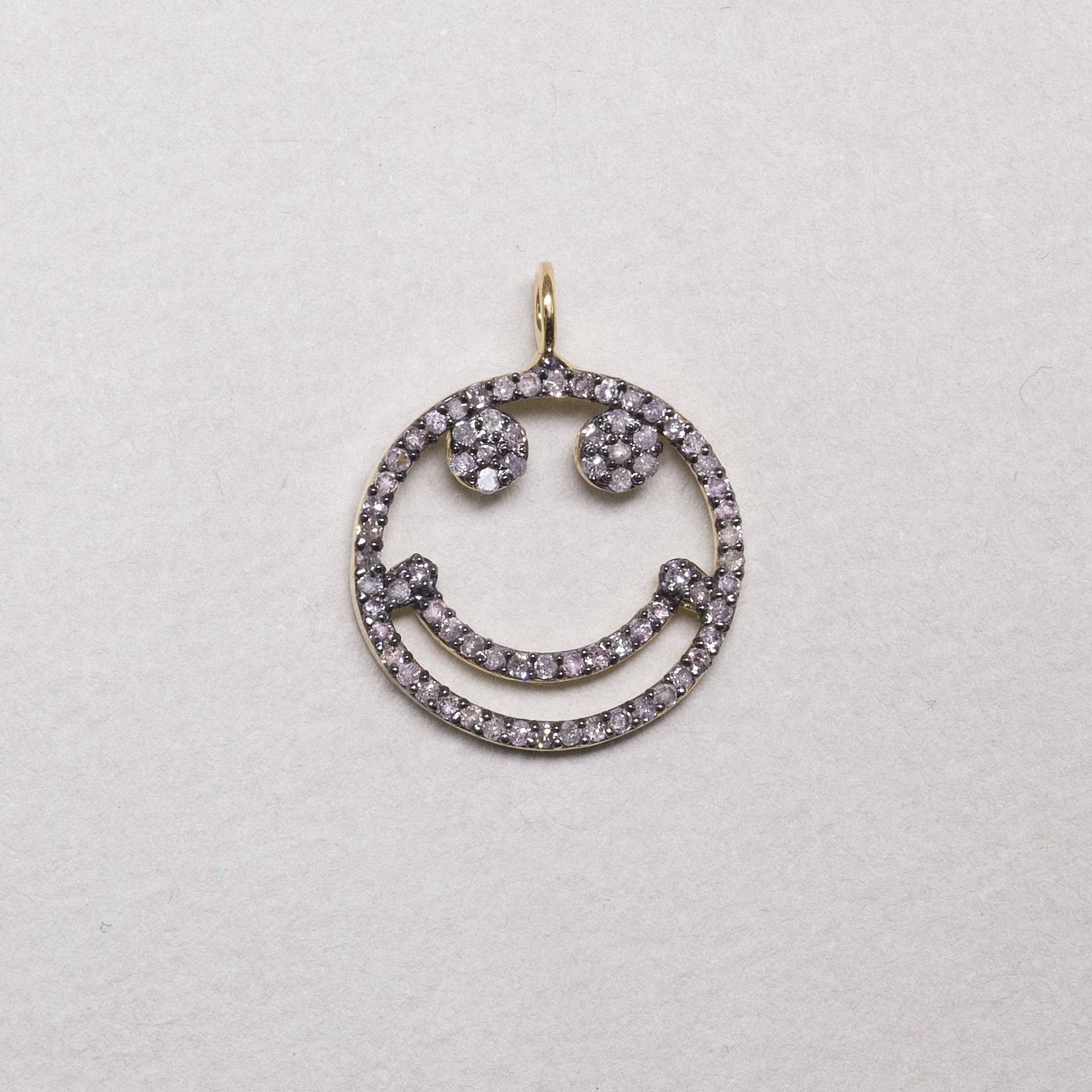 fab Affordable Range Diamond Smiley Face Charm