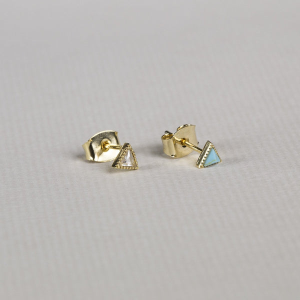side view of the Tai triangle studs