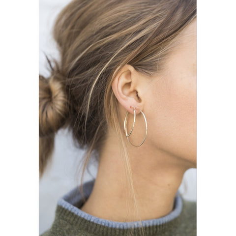 Gold Plain Hoop Earrings