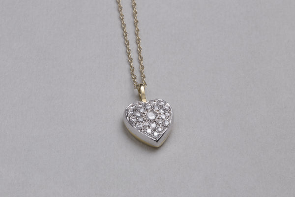 Stunning vintage heart shaped diamond necklace