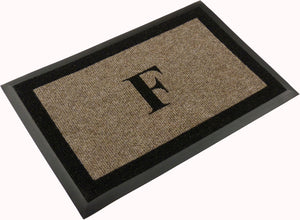 "Samson Monogram ""F"" Door Mat"