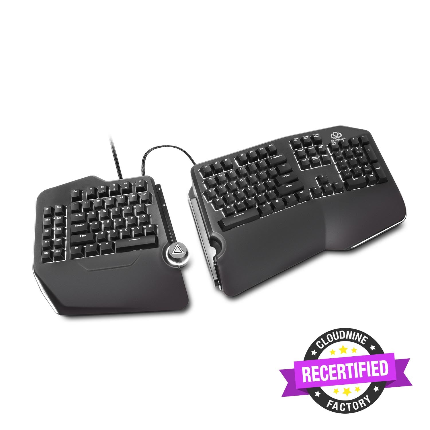 Cloud Nine C989 ErgoFS Ergonomic Mechanical Split-Keyboard (FACTORY-RECERTIFIED)