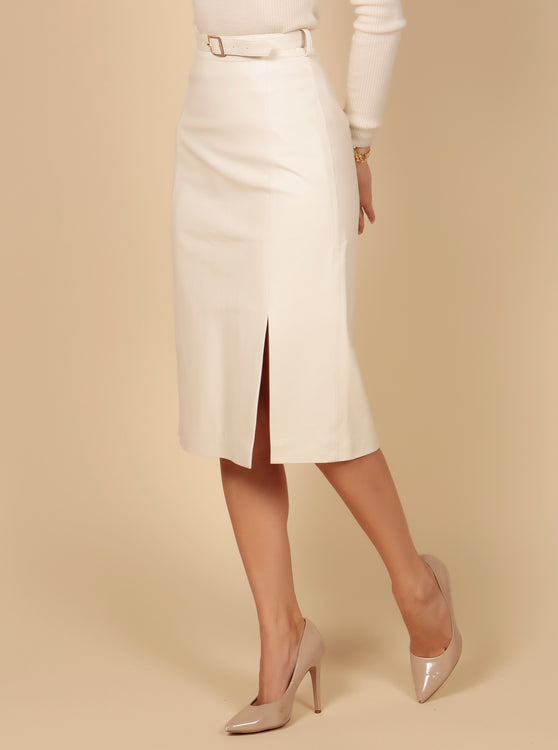 'Some Like It Hot' 100% Leather Over-Knee Pencil Skirt