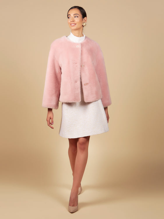 'Sunset Boulevard' 100% Wool Jacket in Rosa