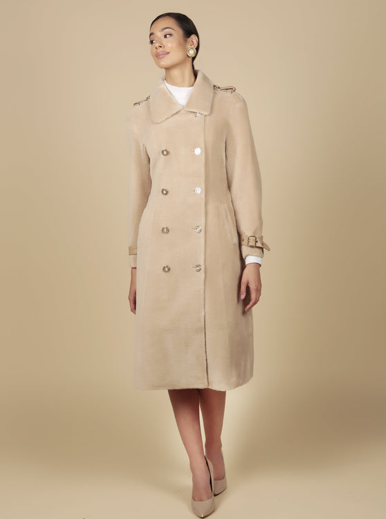 'Singin' in the Rain' 100% Wool Trench Coat in Cammello