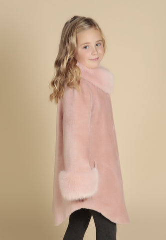 'Mini' 'Gone With The Wind' 100% Wool Coat in Rosa