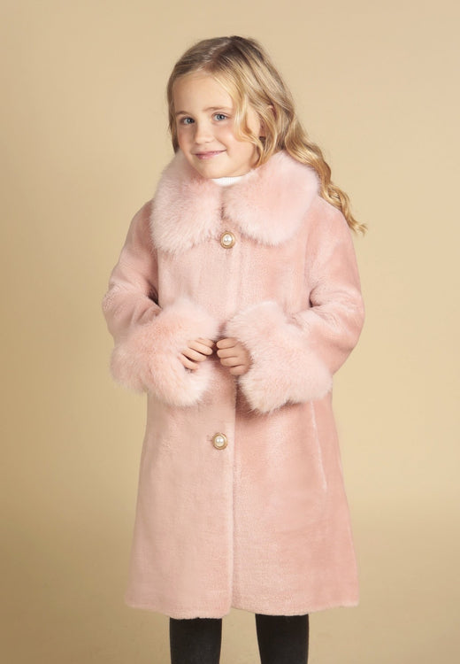 'Mini' 'An Affair To Remember' 100% Wool Coat in Rosa