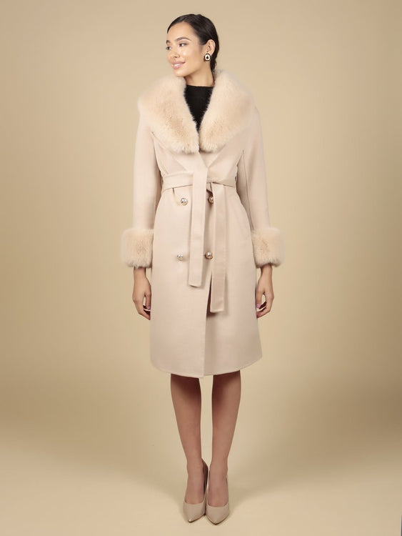 'An American in Paris' 100% Cashmere and Wool Coat in Cammello