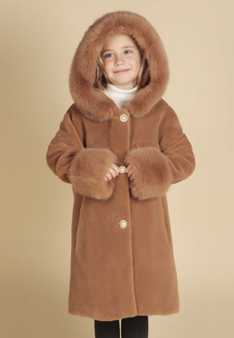 'Mini' 'Wizard Of Oz' 100% Wool Coat in Marrone