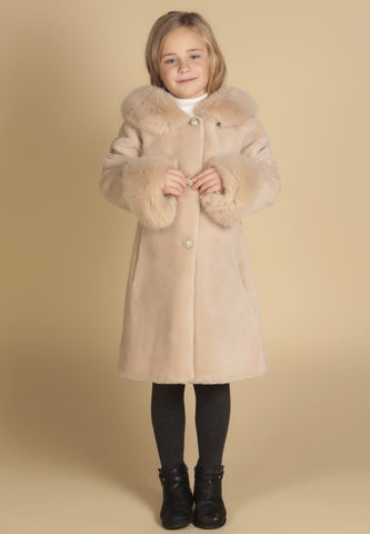 'Mini' 'Wizard Of Oz' 100% Wool Coat in Cammello
