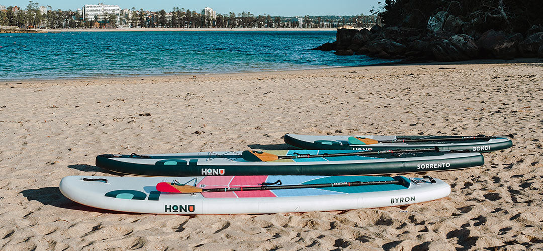 variations of HONU paddle boards