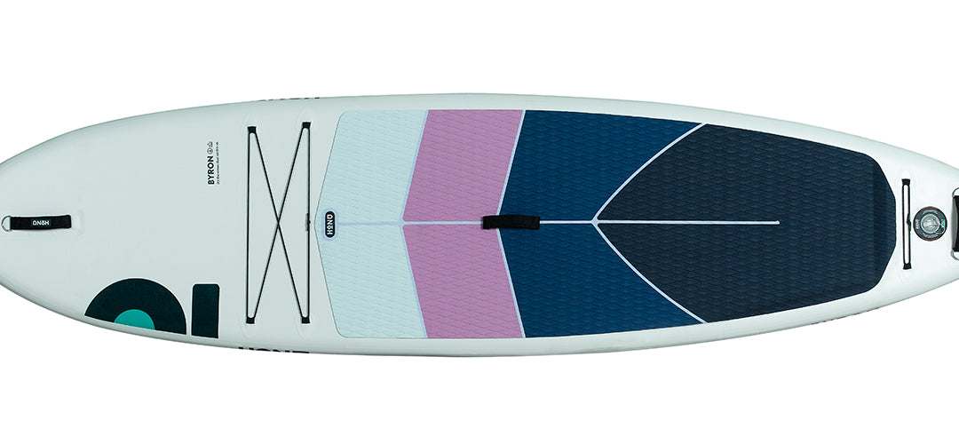 The front of the HONU upgraded Byron 10'6 all rounder stand up paddleboard