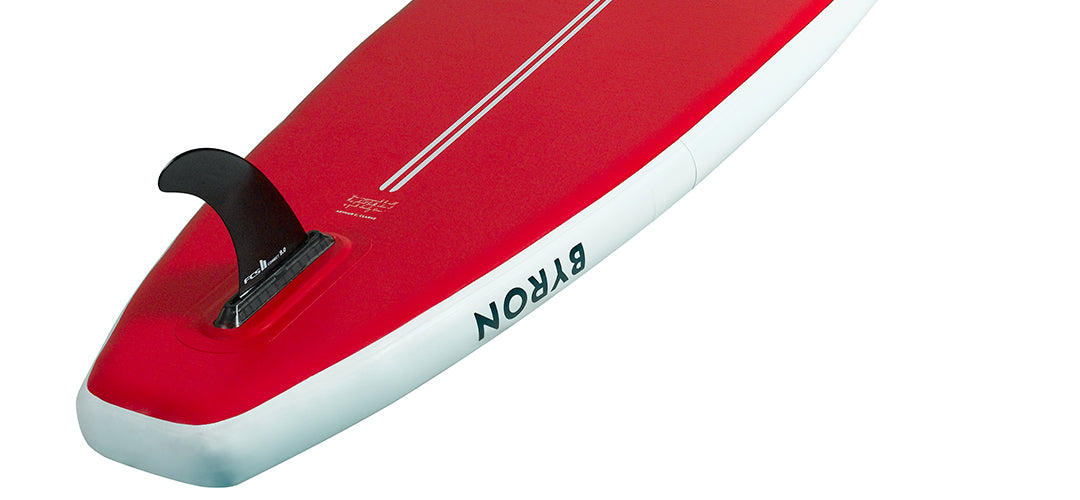 The back of the HONU upgraded Byron 10'6 all rounder stand up paddleboard