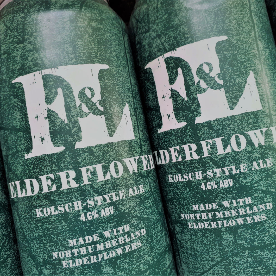 Elderflower / Kolsch-style Ale  (440ml cans)