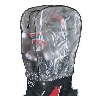 MASTERS - Clear Rain Hood with Zip Black
