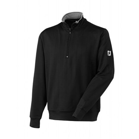 FOOTJOY - Drop Needle 1/2 Zip With Striped Collar