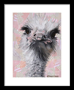 Fuzzy and Fierce - Framed Print