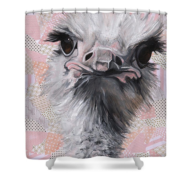 Fuzzy and Fierce - Shower Curtain