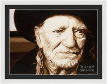 Load image into Gallery viewer, Willie nelson - Framed Print