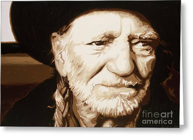Willie nelson - Greeting Card