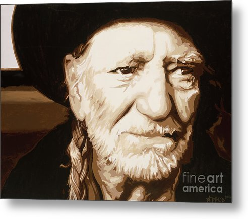 Willie nelson - Metal Print