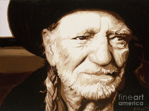 Willie nelson - Art Print