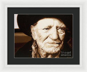 Willie nelson - Framed Print
