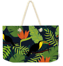 Load image into Gallery viewer, Toucan Jungle Pattern - Weekender Tote Bag