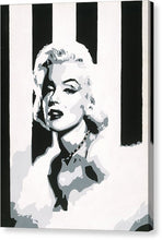 Load image into Gallery viewer, Black and White Marilyn - Canvas Print