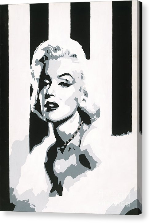 Black and White Marilyn - Canvas Print