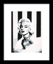 Load image into Gallery viewer, Black and White Marilyn - Framed Print