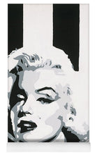 Load image into Gallery viewer, Black and White Marilyn - Yoga Mat