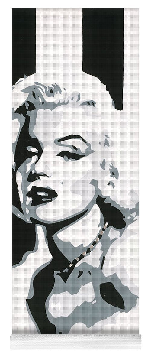 Black and White Marilyn - Yoga Mat
