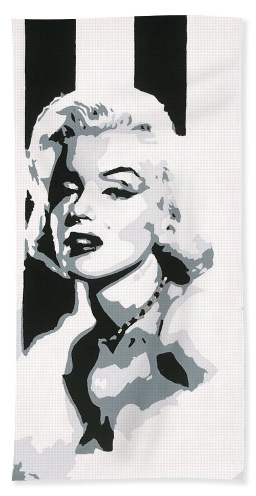 Black and White Marilyn - Beach Towel