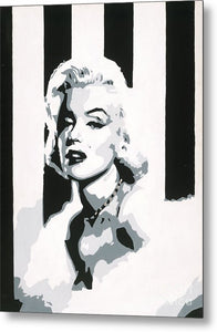 Black and White Marilyn - Metal Print